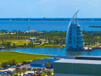 Exploration Tower in Cape Canaveral will allow you to experience an interactive exhibit. You'll find out about the early population in the harbor area.